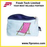 Promocional bolsa de cosméticos lápiz bolsa con el logotipo