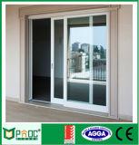 Porta de vidro de deslizamento horizontal de alumínio do projeto moderno feita por Fábrica