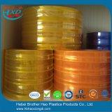 Super transparentes orange Anti-Insekt Doppeltes versah Belüftung-Plastikvinylstreifen-Vorhang mit Rippen