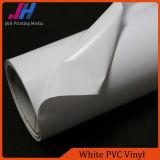 Vinyle lustré de PVC de blanc pour la publicité d'intérieur