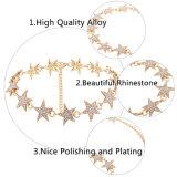 نمو [رهينستون] ماس بلّوريّة مصمّم نجم معدن خانق عقد مجوهرات