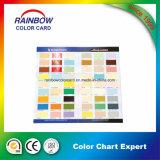 Folleto profesional de la tarjeta del color de la pintura de la pared de la configuración