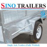 750 kg individuales remolques de eje con jaulas desmontables