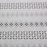 Tissu neuf de lacet de broderie de coton de modèle de 2017 ressorts