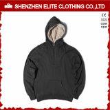 자수 공백 스웨터 100%년 면 Hoodie 보통 검정 (ELTHSJ-1175)