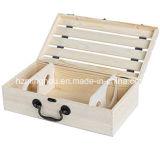 Handmade естественная коробка вина перемещения бутылки древесины сосенки 2