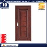Porte en bois composée de bois de construction de placage de panneau de modèle en bois solide simple de porte