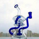 Оптовое голубое/зеленый цвет/пинк/труба водопровода черных буровых вышек Recycler стеклянная куря