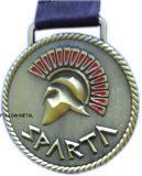 Medalha em branco para o presente relativo à promoção com logotipo das folhas de plátano