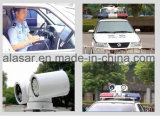 La polizia mobile della macchina fotografica del sistema di riconoscimento della targa di immatricolazione del veicolo di polizia PTZ prova