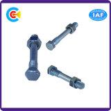 Parafuso Nuts principal sextavado galvanizado Steel/4.8/8.8/10.9 do carbono para dispositivos elétricos