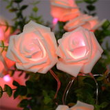 Solar String Lamp with Novelty Rose Flower for Wedding
