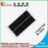 mono painel solar de 18V 30W para o sistema 12V