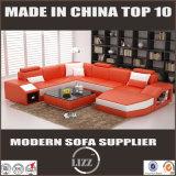 Wohnzimmer-Möbel-ledernes geschnittensofa des Italien-Entwurfs
