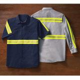 OEM Technicus verbeterde het Hoge Katoenen van het Zicht Weerspiegelende Overhemd van het Werk