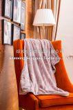 Flan en relief avec Shu Velveteen Blanket / Sherpa Fleece Throw-Lavender