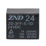 релеего силы 3FF (T73) 7A 24V 4pins релеий миниатюрного электромагнитное