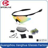 Спорта безопасности UV400 PC способа солнечные очки материального задействуя