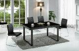 Черная нержавеющая сталь PU обедая стул (B8001)