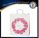 Kundenspezifische weiße Packpapier-Einkaufstasche mit Firmenzeichen-Druck
