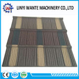 Azulejos de madera de la hoja del material para techos revestido de piedra del metal