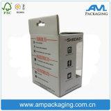 Le guichet clair montre l'empaquetage rigide ondulé de matériel de cadre de papier cartonné