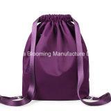 Sac occasionnel portatif de Gymsack de cordon de sac à dos imperméable à l'eau en nylon de mode