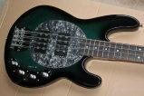 Musique de Hanhai/guitare basse électrique vert-foncé avec 4 chaînes de caractères