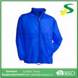 Revestimento azul Water-Resistant do Windbreaker do revestimento do homem