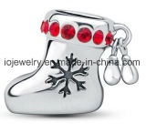 Branello di fascino dell'argento della calza di natale