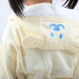 Peignoir animal mignon de coton d'enfants
