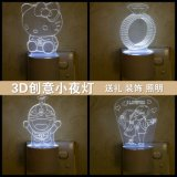 Ursprüngliches Kristallkugel-Nachtlicht-LED Licht-Betriebshalter-Licht