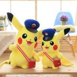 Het in het groot Promotie Zachte Stuk speelgoed van het Stuk speelgoed van de Pluche van Pikachu van het Karakter van het Beeldverhaal