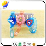 Vendas de muñeca del brillo de la pulsera de la historieta de los juguetes del resplandor de la venda de reloj del reflejo