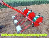 Fileira de Muti que planta e que fertiliza a máquina de semear do milho doce