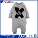 Fábrica 100% infantil impressa forma personalizada do Romper do bebê do algodão do OEM (YBY113)