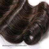 Pelo humano del pelo del 100% de la onda floja peruana sin procesar de la extensión