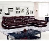 Sofà lussuoso del salone di Leahter della mobilia domestica moderna (UL-NS010)