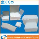 Almofadas de gaze cirúrgicas estéreis e não estéreis descartáveis médicas