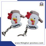 Keyring suave modificado para requisitos particulares manera del PVC de los regalos promocionales
