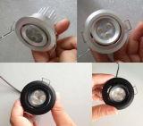 가장 새로운 디자인 조정가능한 1W LED 소형 반점 LED 내각 빛