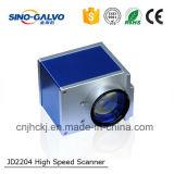 Предварительная машина Jd2204 маркировки лазера стекловолокна логоса/телефона/металла/блока развертки Galvo портативная
