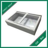 Caixa de presente branca do indicador do PVC do espaço livre da cor