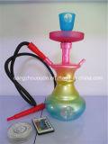 Pipe de fumage colorée de narguilé avec la DEL