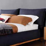 Кровать черной ткани цвета мягкая для пользы спальни (FB3076)
