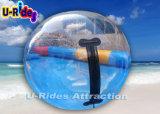 Billes gonflables transparentes de l'eau de PVC avec la tirette durable