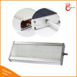 солнечный светлый светильник 800lm датчика движения радиолокатора микроволны 48LED солнечный делает освещение водостотьким пятна обеспеченностью светильника стены улицы напольное