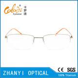Рамка просто Semi-Rimless Titanium стекел Eyeglass Eyewear оптически (8504)