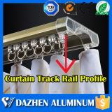 주문을 받아서 만들어진 고품질 커튼 궤도 알루미늄 알루미늄 밀어남 단면도