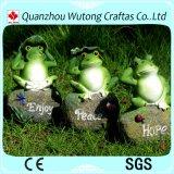 정원 훈장 판매를 위한 사랑스러운 수지 앉아있는 자세 개구리 작은 조상
